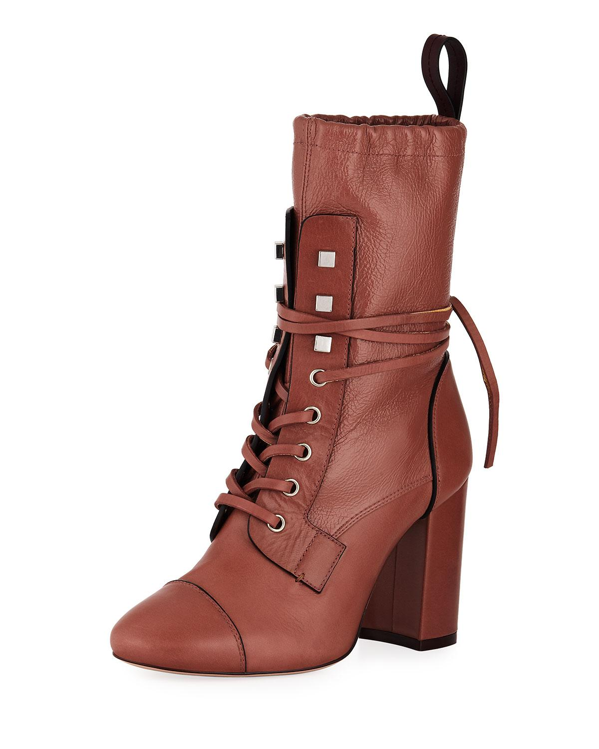 80d254cc27 Stuart Weitzman Veruka Lace-Up 70Mm Boot In Brown | ModeSens