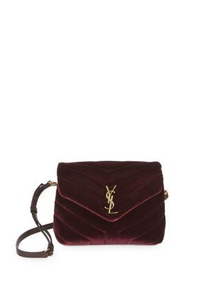 2d0406e1fd Style Name  Saint Laurent Toy Loulou Velvet Crossbody Bag. Style Number   5624546. Available in stores.