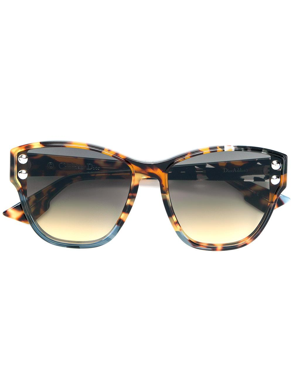 9ba05e0e42ec Dior Eyewear Oversized Sunglasses - Brown