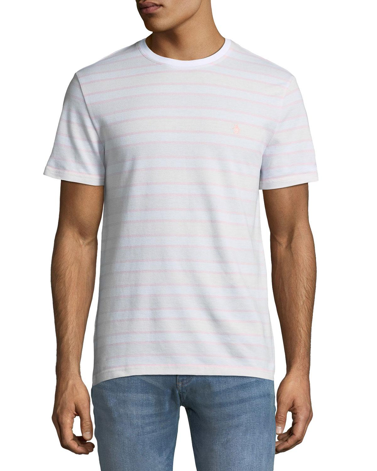 5e27d09d Men's Wide-Striped Birdseye Pique Tee in Multi