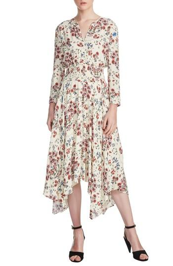 598162ed12d9 Maje Rayne Handkerchief Midi Dress In Imprime | ModeSens