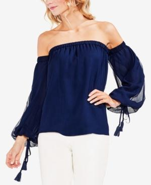 4a2e54347f762a Vince Camuto Off The Shoulder Bubble Sleeve Blouse In High Tide ...
