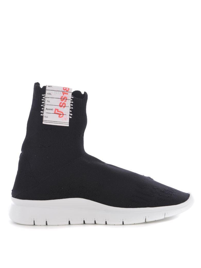 Joshua Sanders Sock Slip On Sneakers In Nero