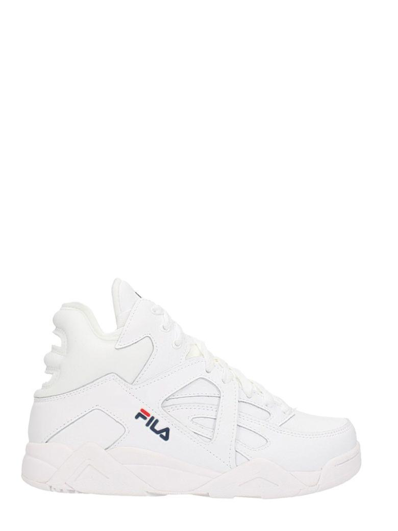 c761a2590bd Fila Wmns Cage Mid White Leather Sneakers | ModeSens