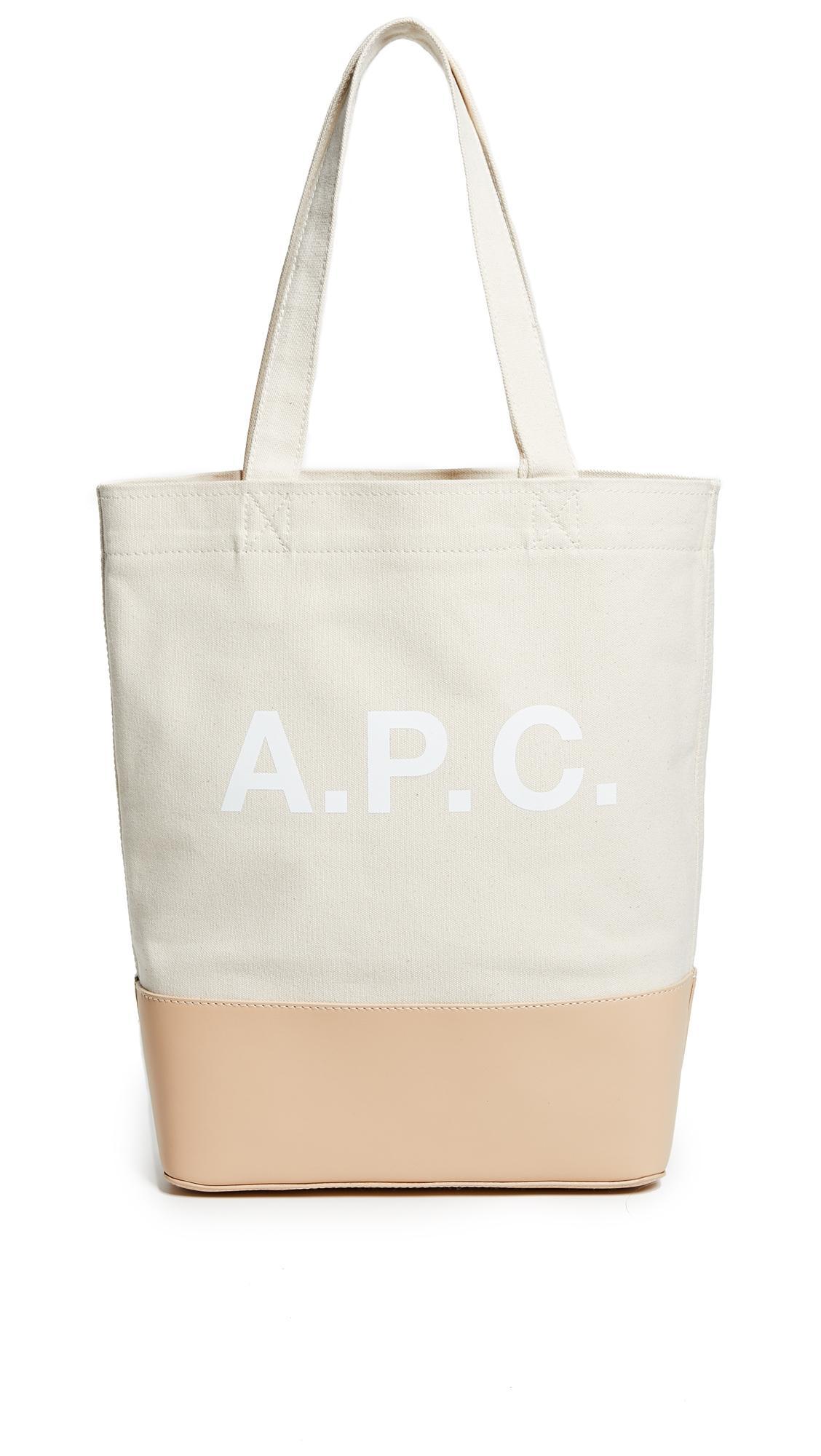 46e523020e A.P.C. Axel Tote Bag In Ecru