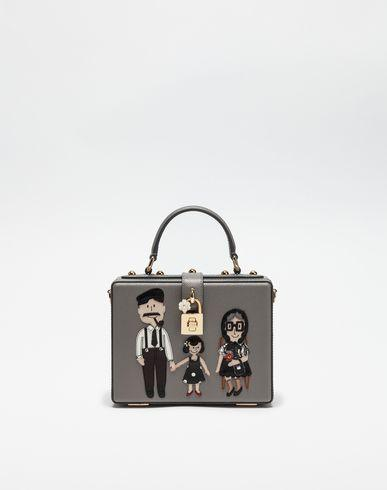 Dolce box handbag with dg family patch   dolce&gabbana
