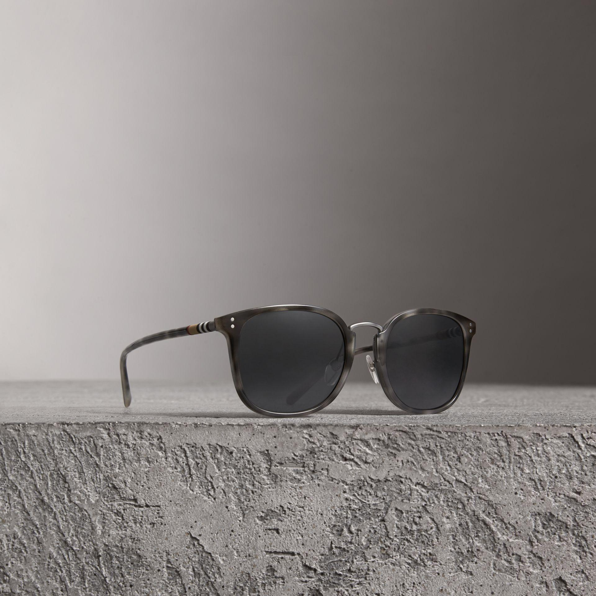 74acf18414 Burberry Square Frame Acetate Sunglasses In Grey