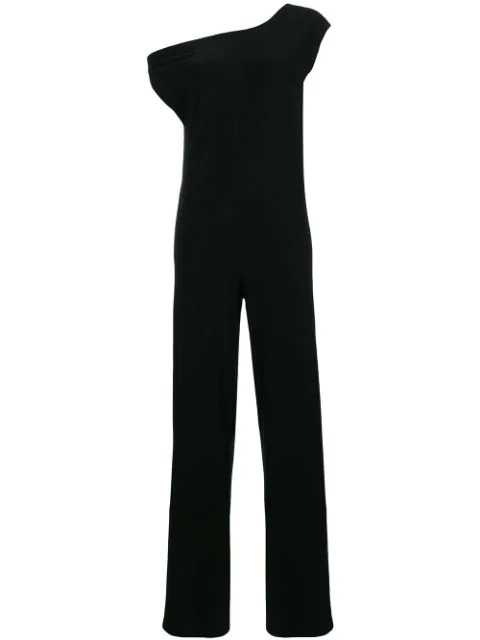 Norma Kamali Tailored Fitted Jumpsuit In Black