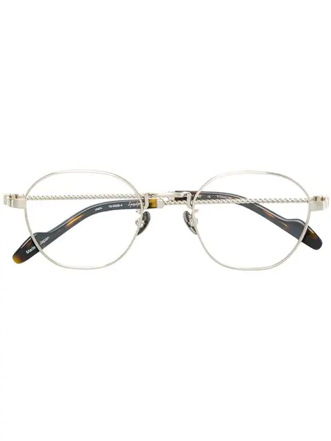 Yohji Yamamoto Round Glasses - Metallic