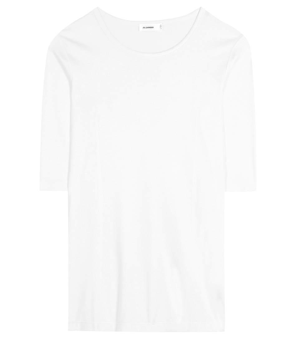Jil Sander Cotton-Blend T-Shirt In White