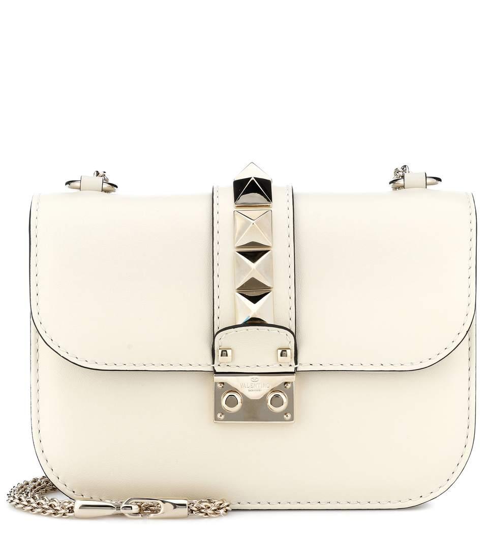 4620873f4f Valentino Lock Small Leather Shoulder Bag In White | ModeSens