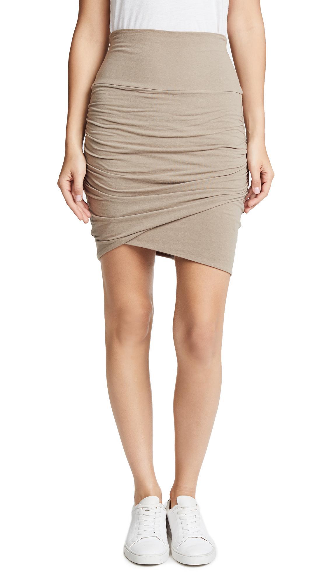 e85e054a46 James Perse High Waist Wrap Skirt In Coyote   ModeSens
