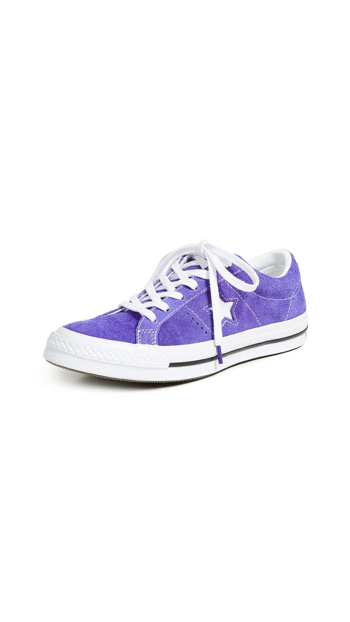 09ed46233642df Converse One Star Ox Sneakers In Court Purple