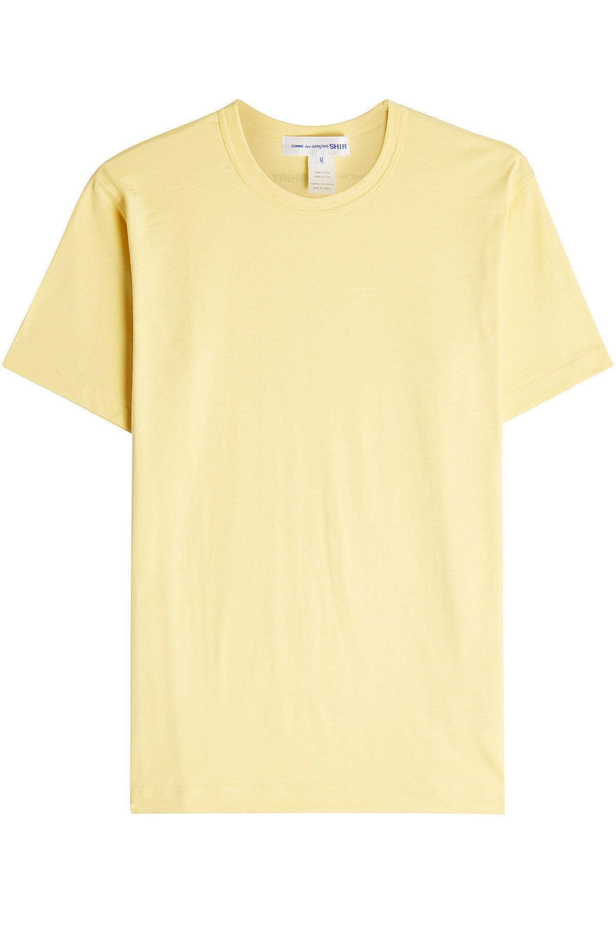 Comme Des GarÇOns Shirt Cotton T-Shirt In Yellow