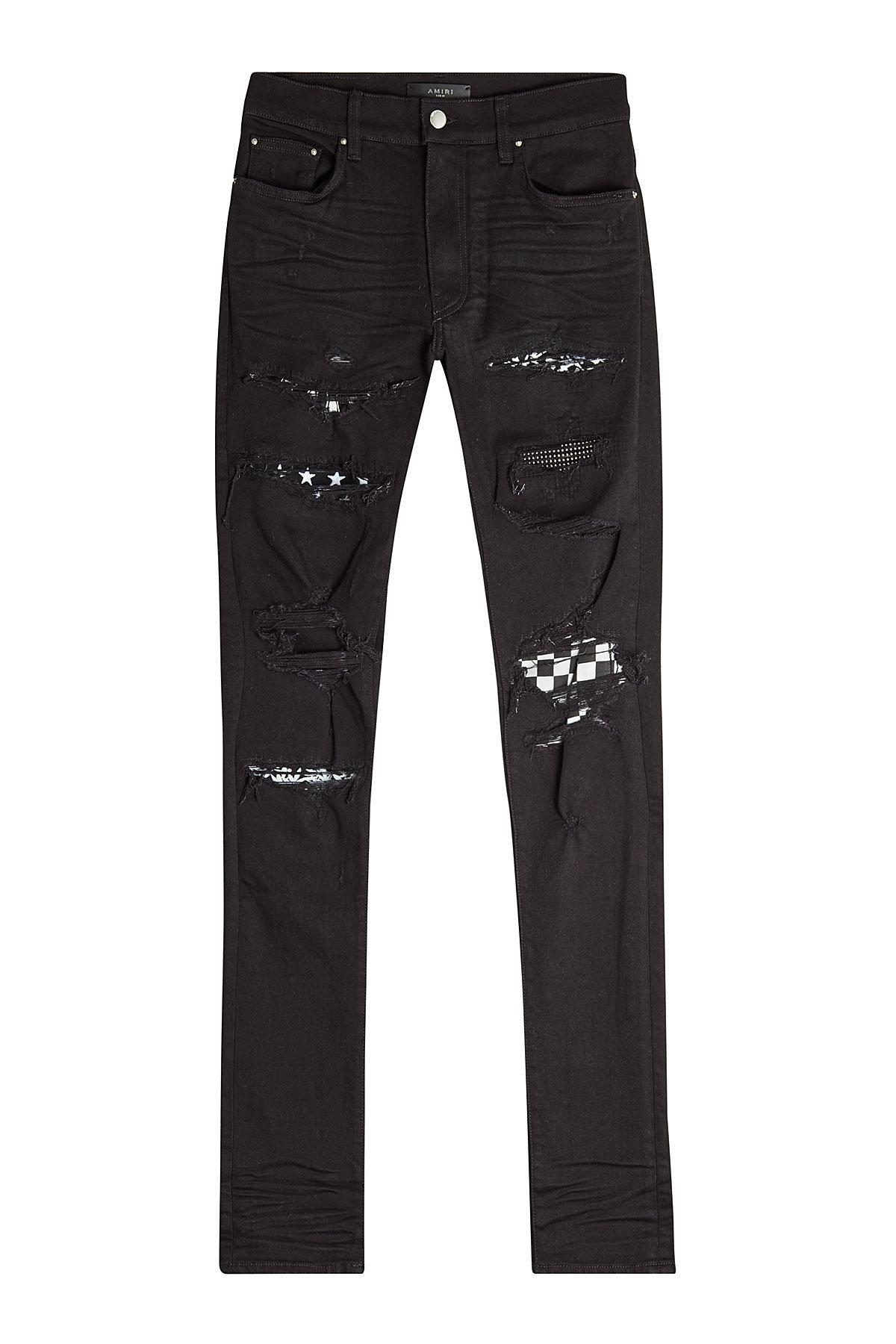 biggest discount buy best undefeated x Art Patch Distressed Skinny Jeans in Black