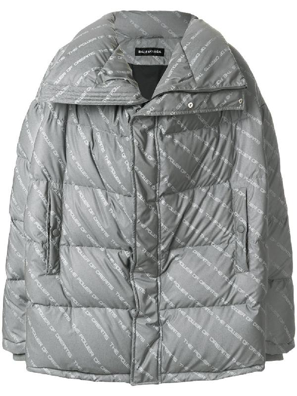 3d0cb63b37 Balenciaga Men's Power Of Dreams Puffer Jacket In Grey | ModeSens