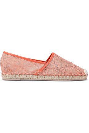 Valentino Garavani Woman Corded Lace Espadrilles Coral