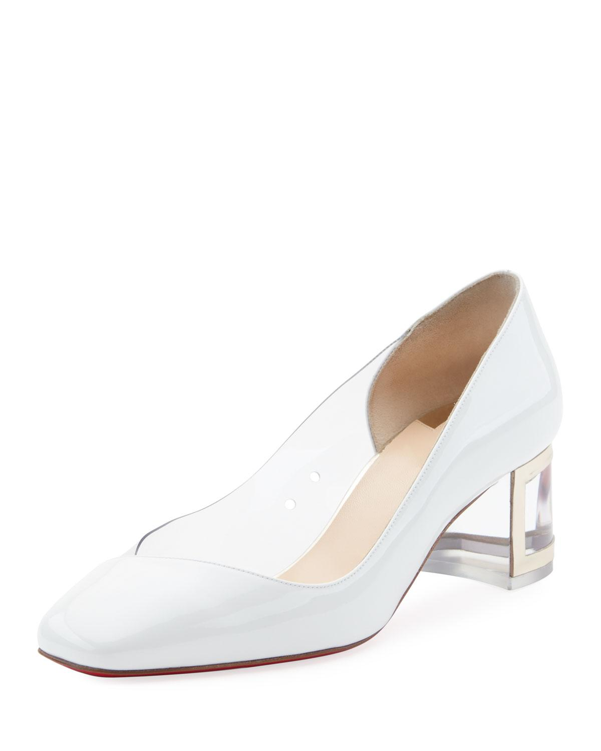 low priced 299d6 04b3e Provisore 55Mm Red Sole Pumps in White