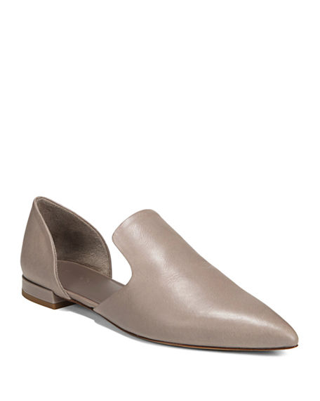 Vince Damris Two-Piece Siviglia Leather Loafer Flat, Dk River Clay