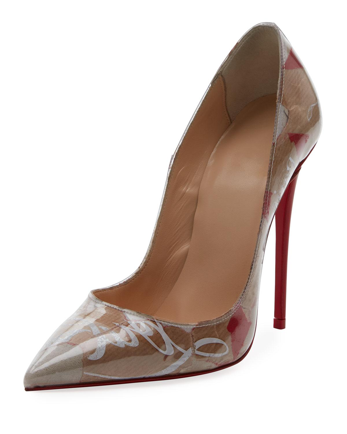 c80e716c5dbc Christian Louboutin So Kate 120Mm Collage Red Sole Pumps In Brown Multi