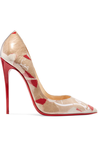 23d6a894480 Christian Louboutin So Kate 120Mm Collage Red Sole Pumps In Beige ...
