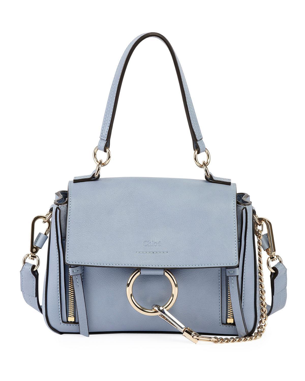 f687cc8bbd ChloÉ Faye Daye Mini Leather/Suede Shoulder Bag In Blue   ModeSens
