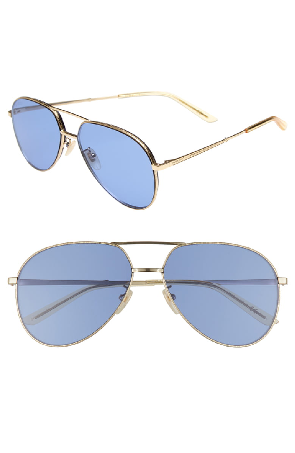 cca465cce42c Gucci 59Mm Aviator Sunglasses - Gold  Yellow