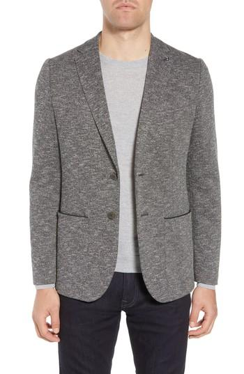 Ted Baker Slim Fit Textured Jersey Sport Coat In Charcoal