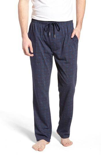 Lacoste Print Lounge Pants In Classic Blue