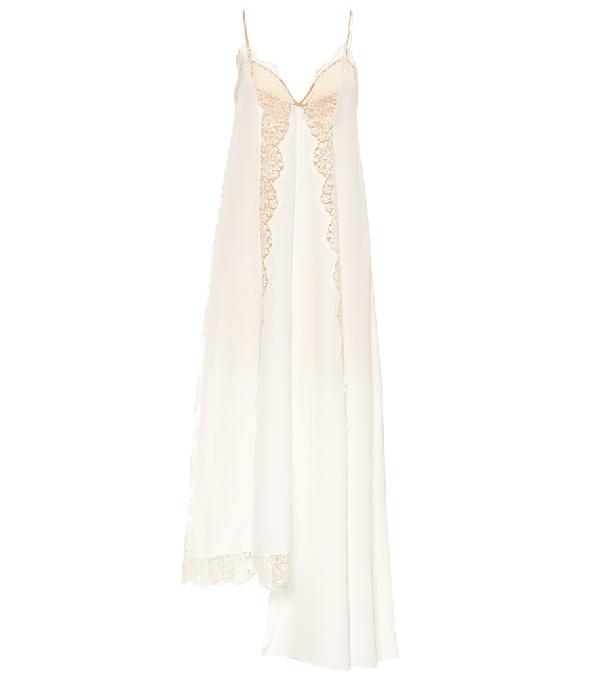 6a1cc9fcb Stella Mccartney Angie Marocaine V-Neck Sleeveless Silk Lace Cami Dress
