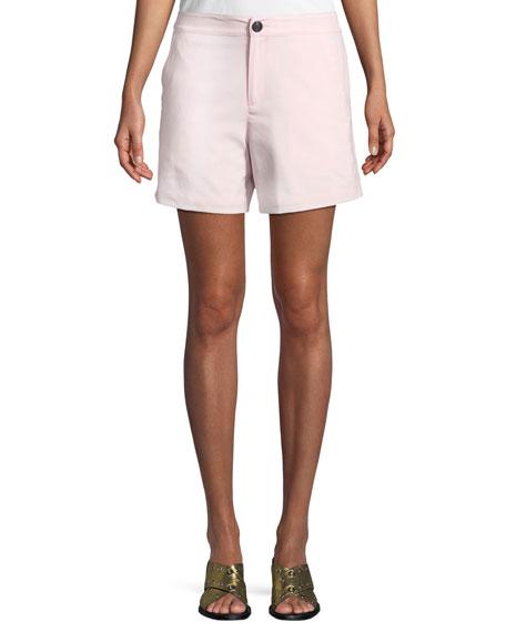Rag & Bone Sage Tailored Wool-stretch Shorts In Baby Pink