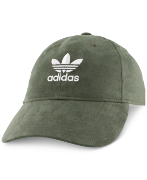 5bfde94a4c9 ADIDAS ORIGINALS. Relaxed Strap-Back Cap - Green in Base Green Suede White
