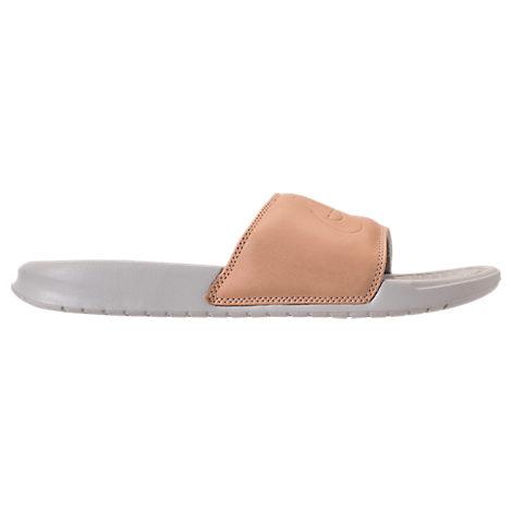 big sale a3095 1e92a Women's Benassi Just Do It Metallic Slide Sandals, Brown - Size 6.0