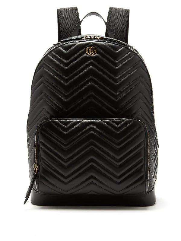 44c12daea4ec Gucci Men's Gg Marmont Quilted Leather Backpack In 1000 Black | ModeSens