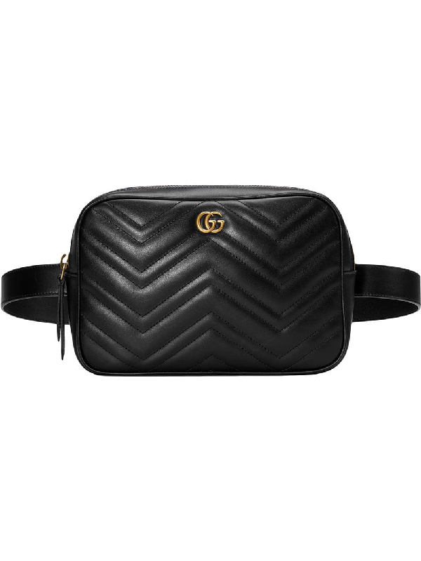 6793ed1127ef Gucci Gg Marmont 2.0 Matelasse Convertible Leather Belt Bag - Black ...