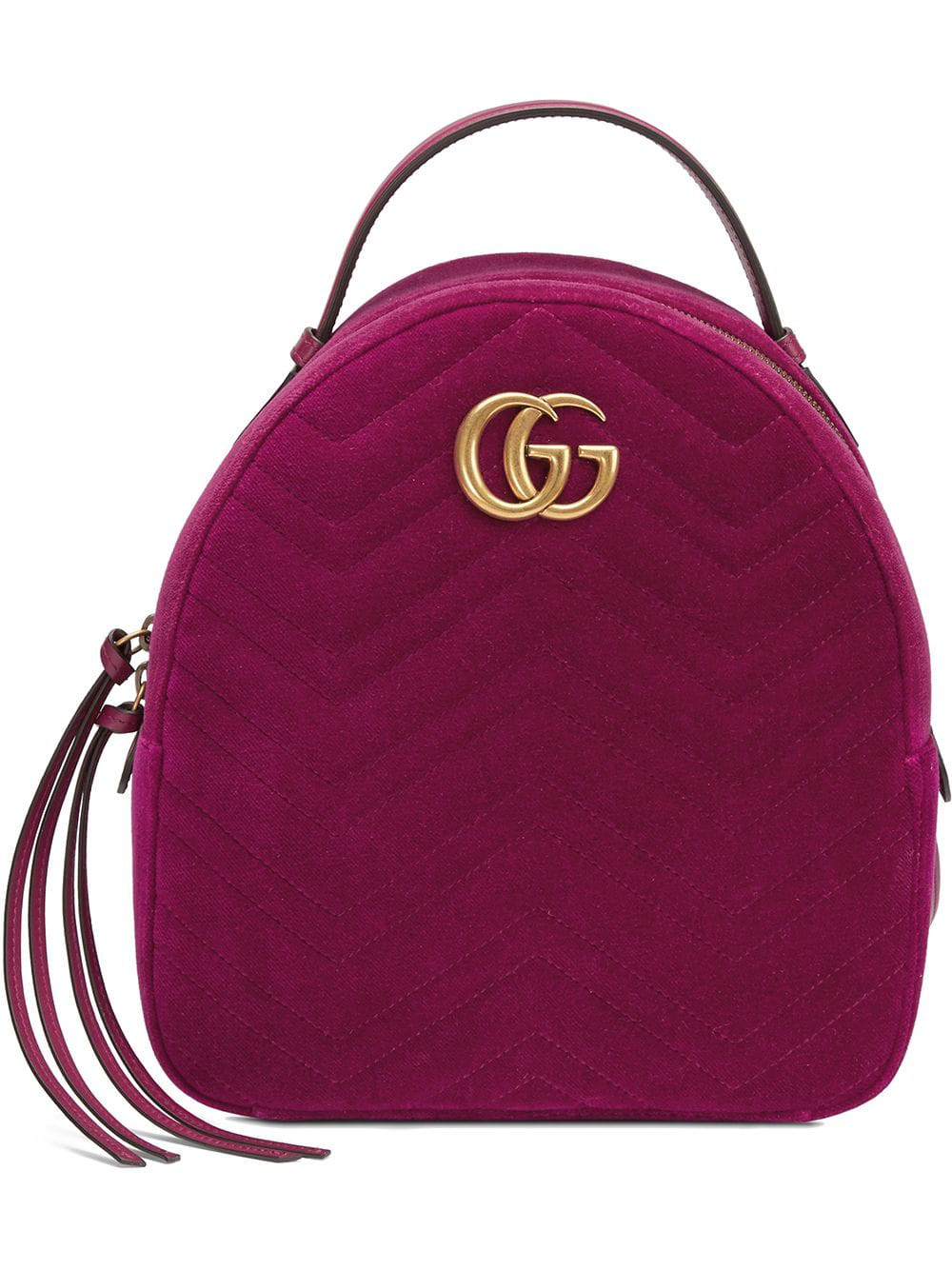 ac8b8835e33 Gucci Gg Marmont Velvet Backpack In Pink