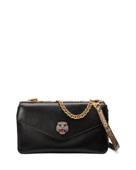 833925be782a Gucci Thiara Python Double Envelope Shoulder Bag In Black   ModeSens
