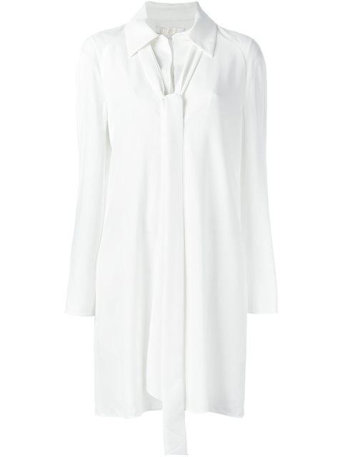 ChloÉ Tie-Neck Dress In White