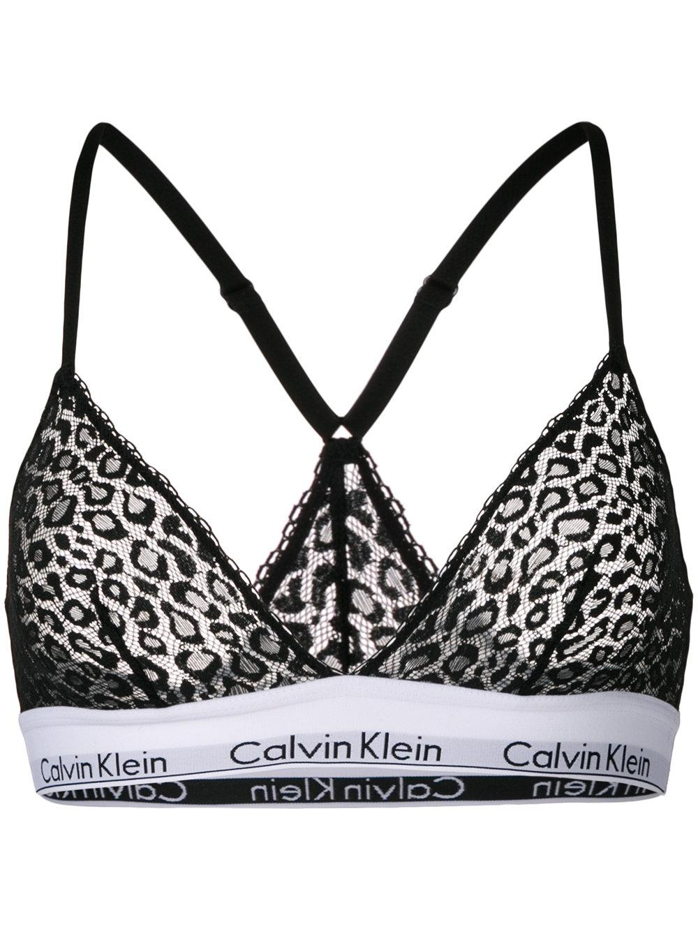 891c46d5d3fdd Calvin Klein Underwear Leopard Mesh Unlined Bra