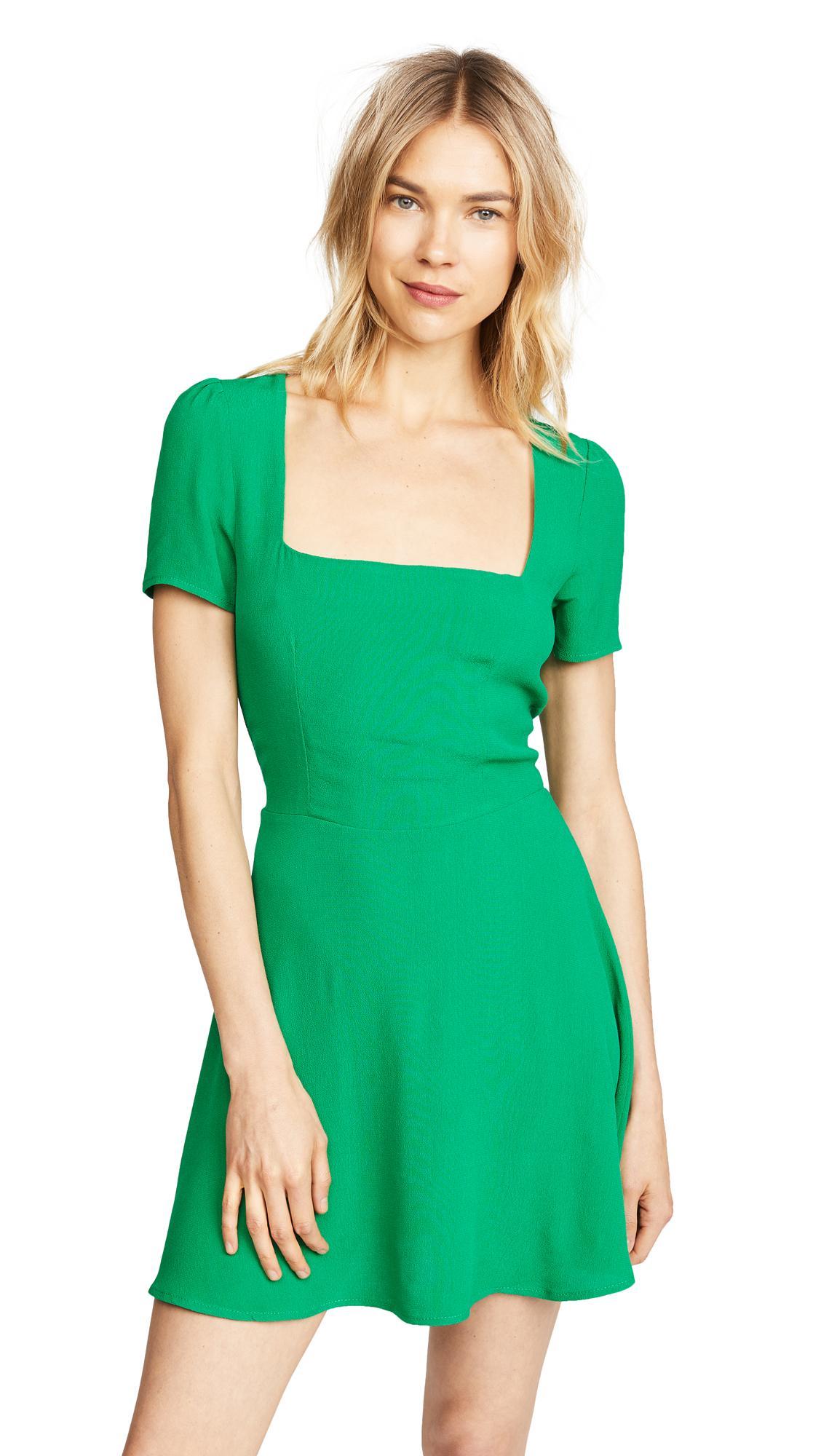 Flynn Skye Maiden Mini Dress In Jolly Green