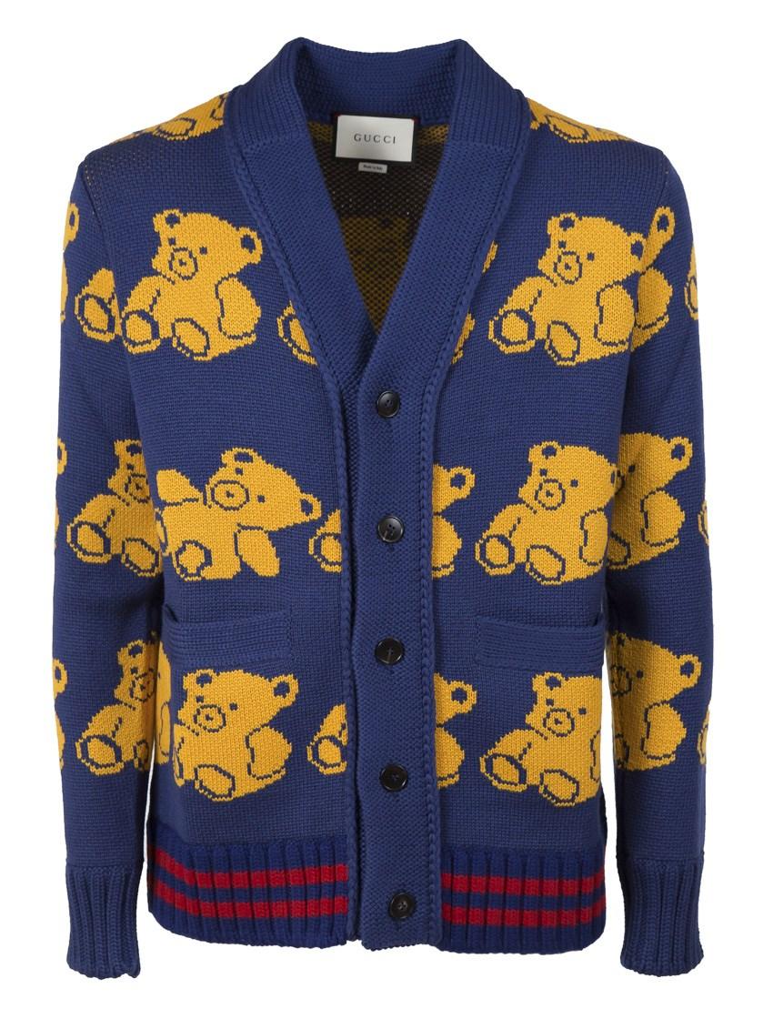 fb40d7db4a0 Gucci Teddy Bear V- Neck Cardigan