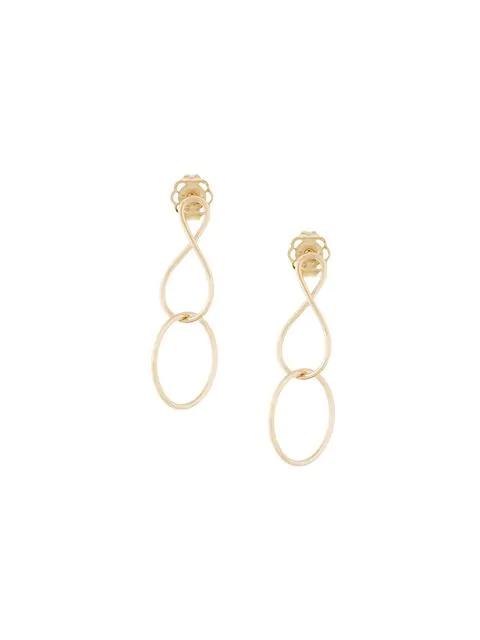 Natasha Schweitzer Mini Infinity Twist Earrings In Metallic