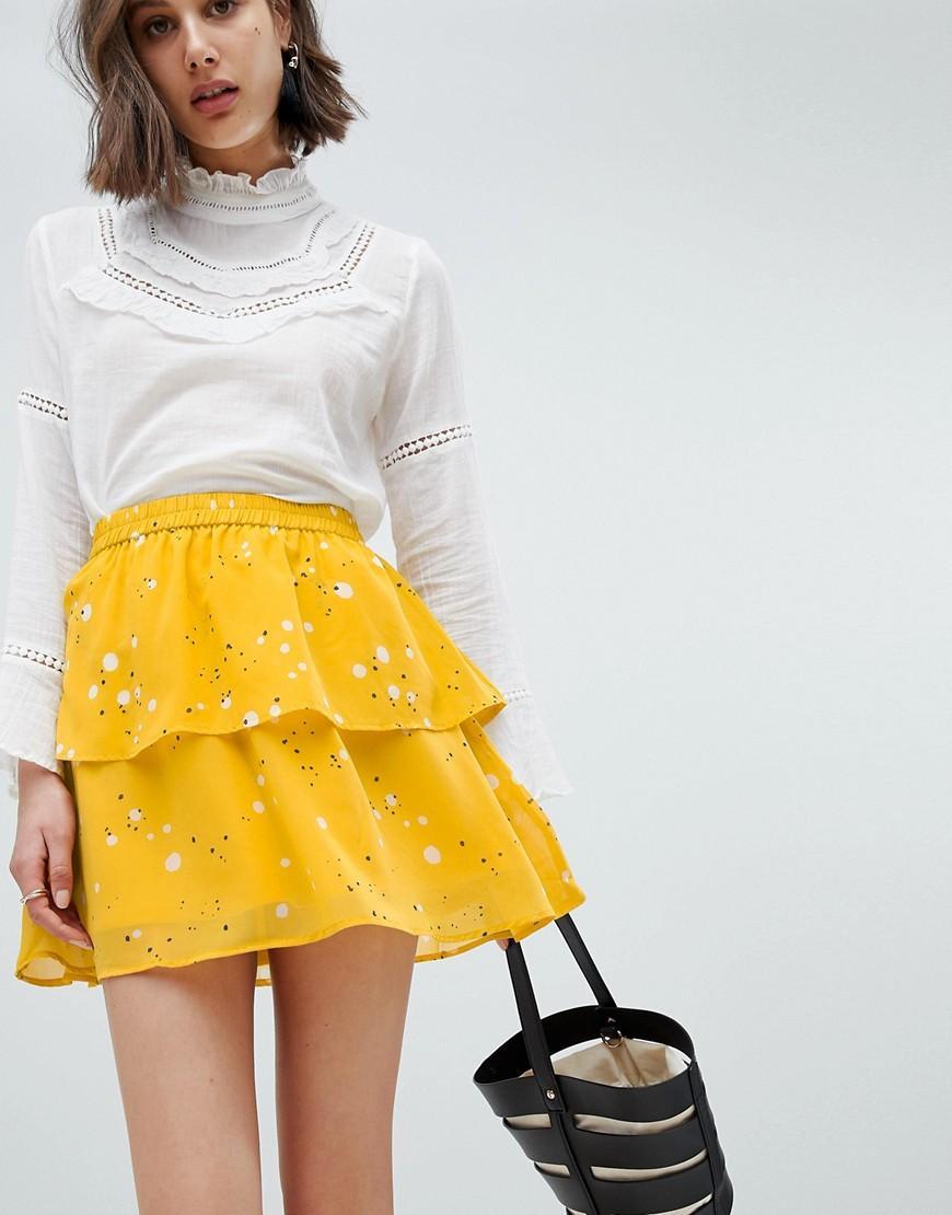 e7b1bcf7a2 Vero Moda Floral Flippy Skirt - Multi | ModeSens