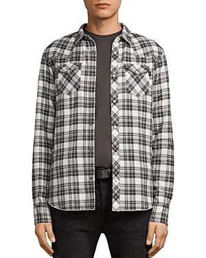 Allsaints Blackroad Regular Fit Button-Down Shirt In Ecru White