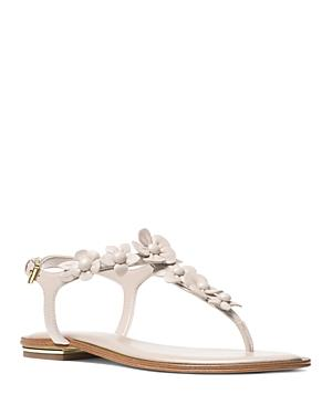 8d1ea0519f0 Michael Michael Kors Women s Tricia Leather Thong Sandals In Ecru Leather