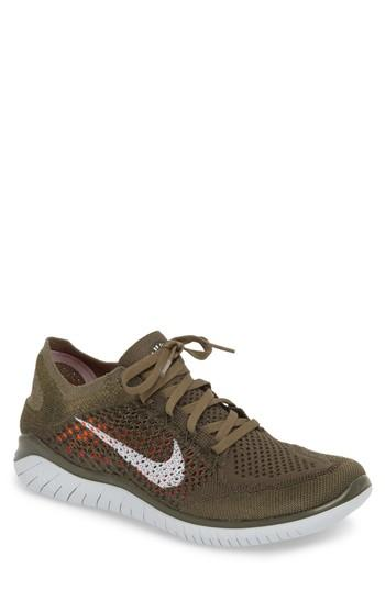 9dfbc0254 Nike Free Rn Flyknit 2018 Running Shoe In Cargo Khaki/ Platinum/ Olive