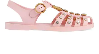 a20b44dcc887 Gucci Marmont Crystal Embellished Fisherman Sandal In Pink