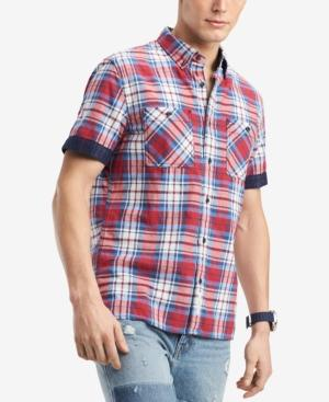 Tommy Hilfiger Men's Leo Plaid Shirt In Racing Red