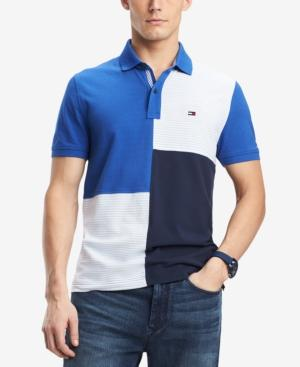 f3ec3bc8484 Tommy Hilfiger Men's Stevans Custom Fit Polo In Surf The Web | ModeSens