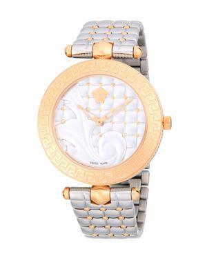 Versace Stainless Steel Bracelet Watch In Silver